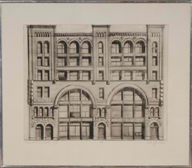 Artwork by Richard Haas, 484 to 490 Broome Street, Made of Etching