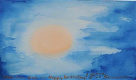 Artwork by Eve Sonneman, For Leo - Happy Birthday!, Made of Watercolor on paper