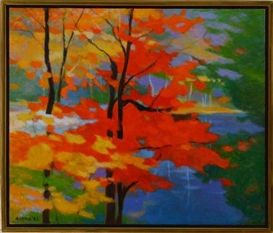 Artwork by Tadashi Asoma, Glory of Fall, Made of Oil on canvas