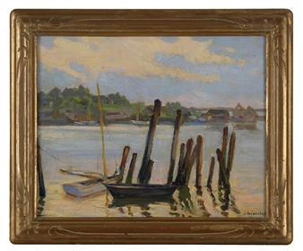 Boats (Gloucester Harbor) By Jacob I. Greenleaf