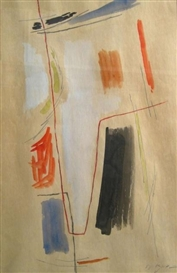 Artwork by Aharon Kahana, Untitled, 1958, Made of Watercolor
