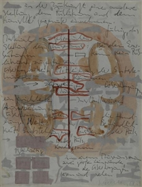 Artwork by Franz Erhard Walther, Untitled, Made of mixed media on paper