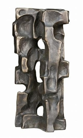 Artwork by Lyndon Dadswell, Abstract Tower, Made of bronze