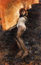 Artwork by Louise Hearman, Untitled (Girl), Made of oil on canvas