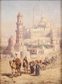 Artwork by Louis Comfort Tiffany, Suleymaniye Mosque, Third Hill, Istanbul, Turkey, Made of Oil on board
