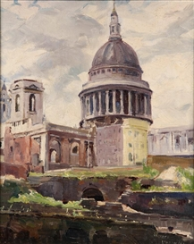 Francesco Iacurto, St Paul's Cathedral from Distaff Lane