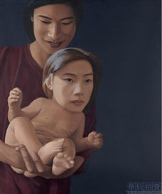 Artwork by Ma Liuming, Baby No. 9, Made of Oil on canvas