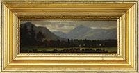 Artwork by Henry Francis Farny, WESTERN LANDSCAPE, Made of Oil on academy board