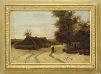 Artwork by Anton Mauve, THE STROLL HOME, Made of Oil on wood panel
