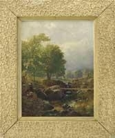 Artwork by Martin Johnson Heade, BABBLING BROOK, Made of Oil on canvas
