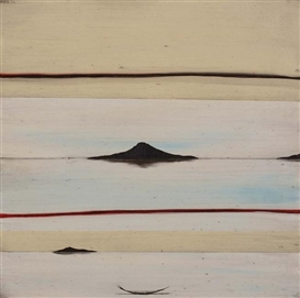 Artwork by Simon Kaan, Untitled Landform 12, Made of oil on board