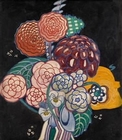 Artwork by Charles Rennie Mackintosh, Garden Bouquet, Made of gouache and traces of pencil