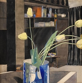 Artwork by Charles Rennie Mackintosh, Yellow Tulips, Made of watercolour