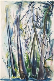 Artwork by Siegward Sprotte, Forest, Made of Watercolour on paper