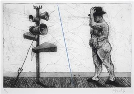William Kentridge, Man with Three Megaphones