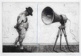William Kentridge, Man with Megaphone