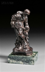 Artwork by Jean-Baptiste Carpeaux, Jeune Femme Nue, Made of Bronze with dark brown patina