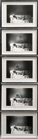 Artwork by Duane Michals, The Young Girl's Dream (in Five Parts), Made of Gelatin silver prints