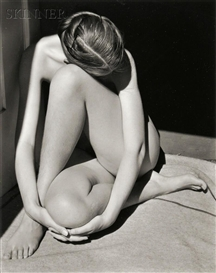 Artwork by Edward Weston, Charis, Santa Monica/Nude, Made of Gelatin silver print on paper