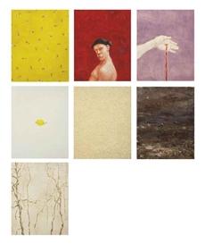 Artwork by Michael Kvium, 7 Parts: El dia que viene, Made of oil on canvas