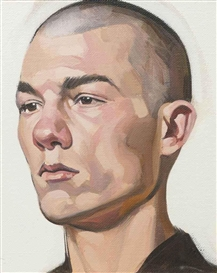 Artwork by Stephen Conroy, Head study II, Made of oil on canvas