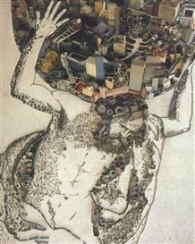 Vik Muniz, Atlas, after Giovanni Francesco Barbieri (Il Guercino) (Pictures of Junk)