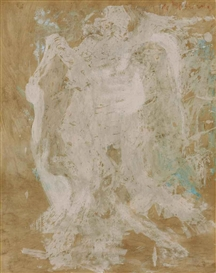 Artwork by Willem de Kooning, Untitled (Nude), Made of oil on paper mounted on masonite