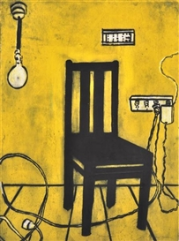 Artwork by Katherine Hattam, Yellow Chair, Made of lithograph