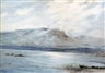 Henri Foreau, Barge man in a coastal landscape