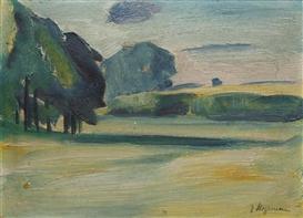 Artwork by Heinrich Stegemann, 4 works: A rural landscape, Made of oil on board