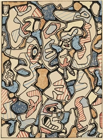 Artwork by Jean Dubuffet, Samedi tantôts, Made of lithograph in colours