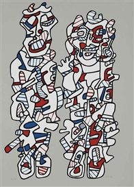 Artwork by Jean Dubuffet, Délègation, Made of screenprint in colours