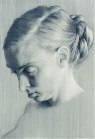 Artwork by John Currin, Rachel as the Hag, Made of glicée print