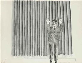 David Hockney, Figure by a Curtain