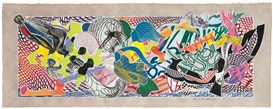 Artwork by Frank Stella, Desparia, from: Imaginary Places Series, Made of screenprint, aquatint, etching relief and mezzotint in colours