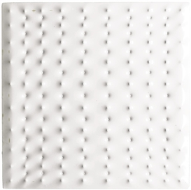 Artwork by Enrico Castellani, 2 Works: Estroflessione, Made of Thermoformed plastic multiple with white wooden frame