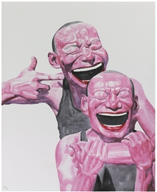 Yue Minjun, Smile-ism series: A smile is a light in a window. It lets people know you're home