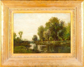 Artwork by Arthur Parton, Summer Landscape, Made of oil on canvas