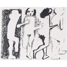 Artwork by Kenneth Armitage, Untitled, Made of lithograph