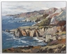 Hans Schiebold, Coastal landscape with ocean, cliffs and mountains