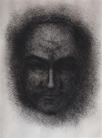 Artwork by Gabor Peterdi, Selfportrait, Made of Etching