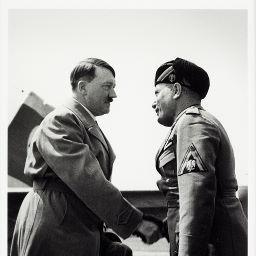 Hitler et Mussolini quand l l ve d passe le ma tre