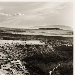 Artwork by William Clift, La Mesita, New Mexico, Made of Gelatin silver print