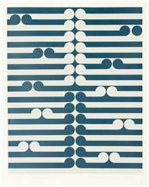 Artwork by Gordon Walters, Arahura, Made of screenprint