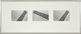 Artwork by Peter Peryer, Triptych: The Grid Series, Made of gelatin silver prints