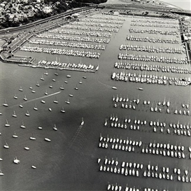 Artwork by Peter Peryer, Westhaven Marina, Made of gelatin silver print