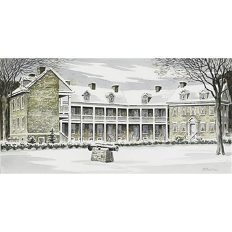 Colonial Barracks, Trenton By George A. Bradshaw