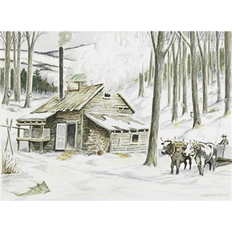 Winter Scene By George A. Bradshaw