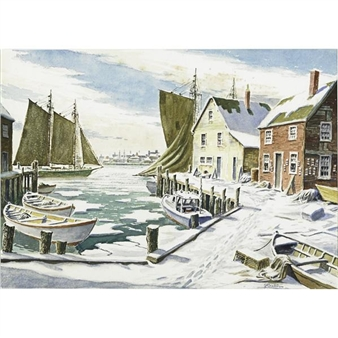 Winter Wharves By George A. Bradshaw
