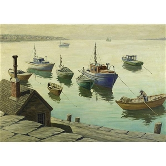 Gloucester Harbor By George A. Bradshaw